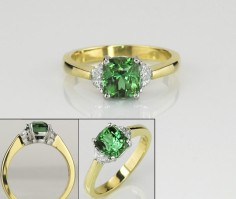 SparHawk Maine Tourmaline and Diamond Ring - Reference Number: F5687