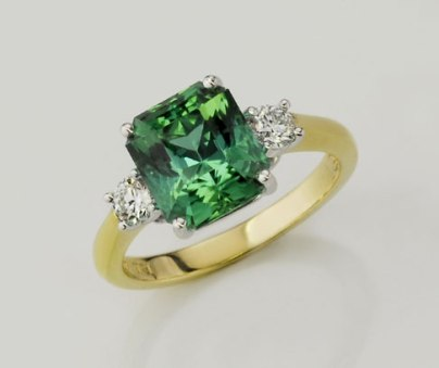 SparHawk Maine Tourmaline and Diamond Ring - Reference Number: F6749