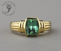 Twilight Cut SparHawk Maine Tourmaline Ring - Reference Number: F6962