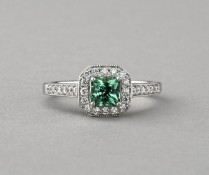 Chestnut Hill SparHawk Maine Tourmaline and Diamond Ring - Reference Number: F6986