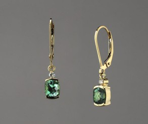 SparHawk Maine Tourmaline and Diamond Earrings - Reference Number: F6993